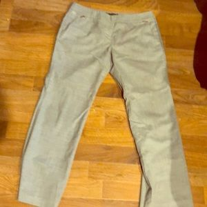 Light Gray Pant with Zipper Detail.